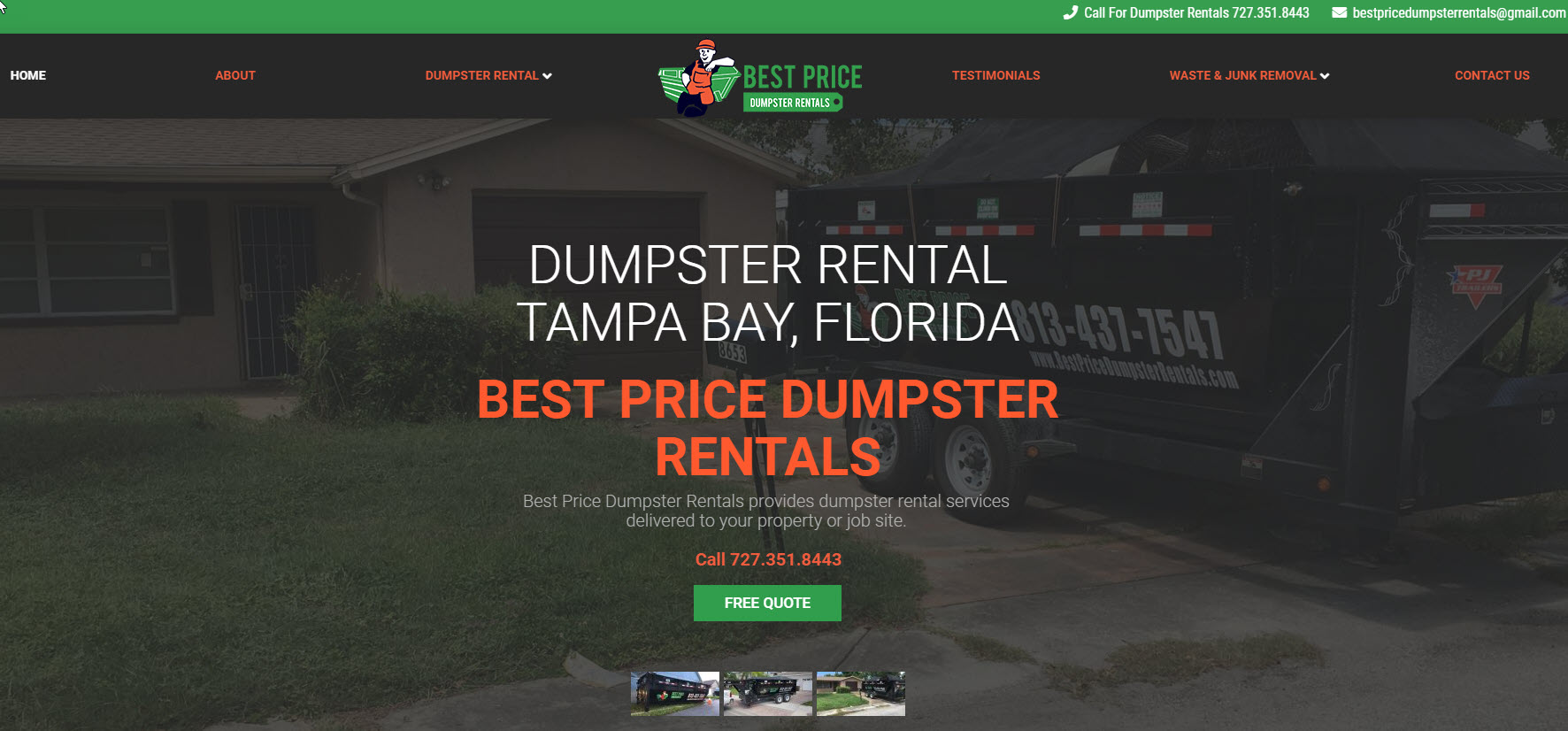 best price dumpster rentals