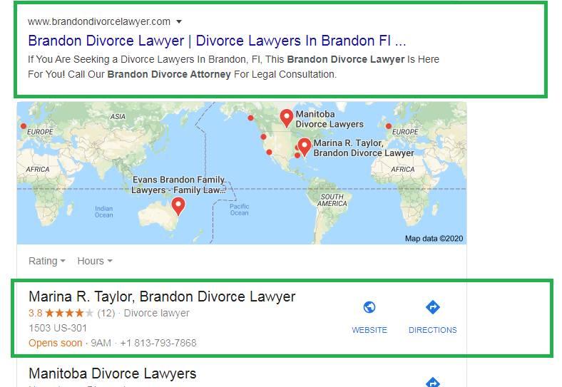 Brandon Divorce Lawyer Local Rank