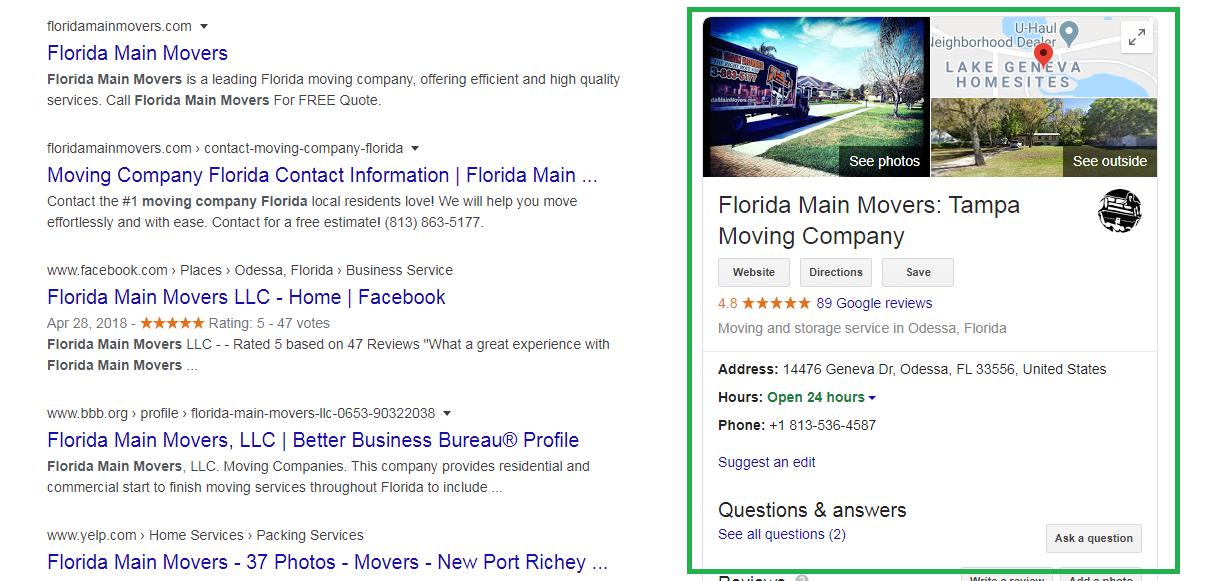 Florida Main Movers GMB