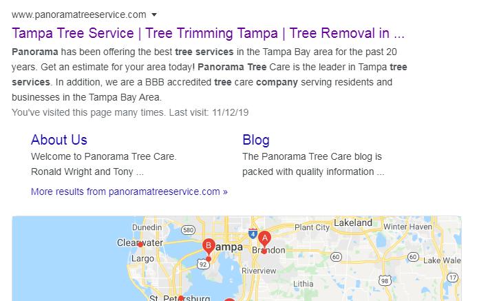 panorama tree care services local rank