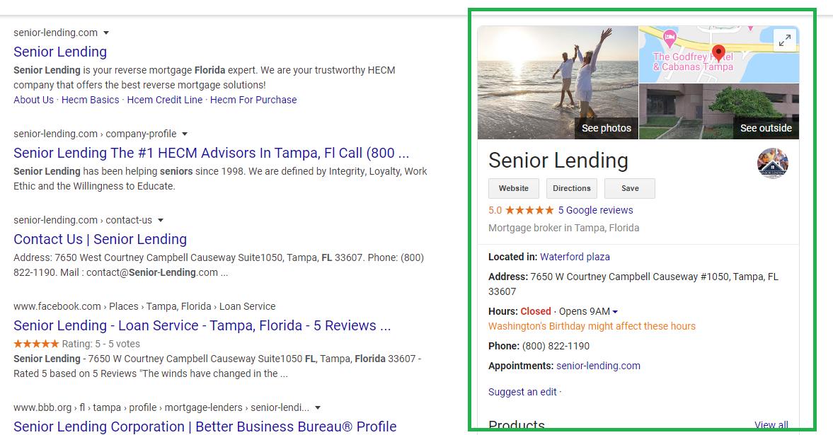 senior leading local listing